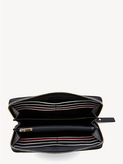 TOMMY HILFIGER Large Leather Zip-Around Wallet - TOMMY NAVY - TOMMY HILFIGER Wallets - detail image 1