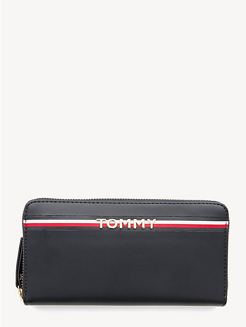 TOMMY HILFIGER Large Leather Zip-Around Wallet - TOMMY NAVY - TOMMY HILFIGER Wallets - main image