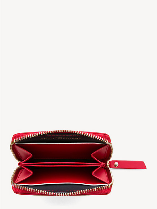 TOMMY HILFIGER Small Leather Zip-Around Wallet - TOMMY RED - TOMMY HILFIGER Wallets - detail image 1