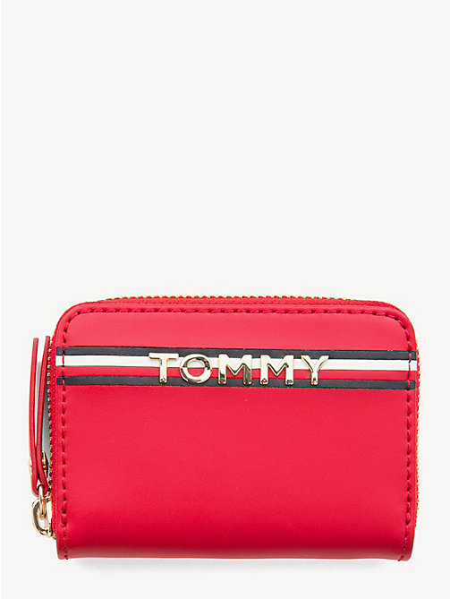 TOMMY HILFIGER Small Leather Zip-Around Wallet - TOMMY RED - TOMMY HILFIGER Wallets - main image