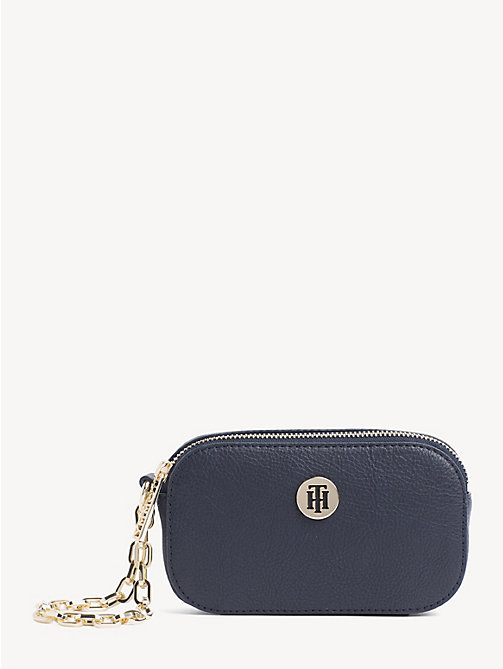 TOMMY HILFIGER TH Core Wristlet Pouch - BLACK - TOMMY HILFIGER Clutch Bags - main image