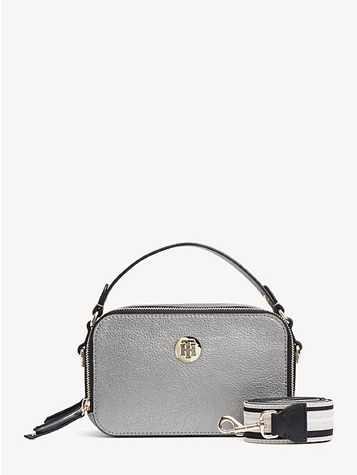 TOMMY HILFIGER Cool Tommy crossbodytas - PEWTER - TOMMY HILFIGER Partylooks - main image