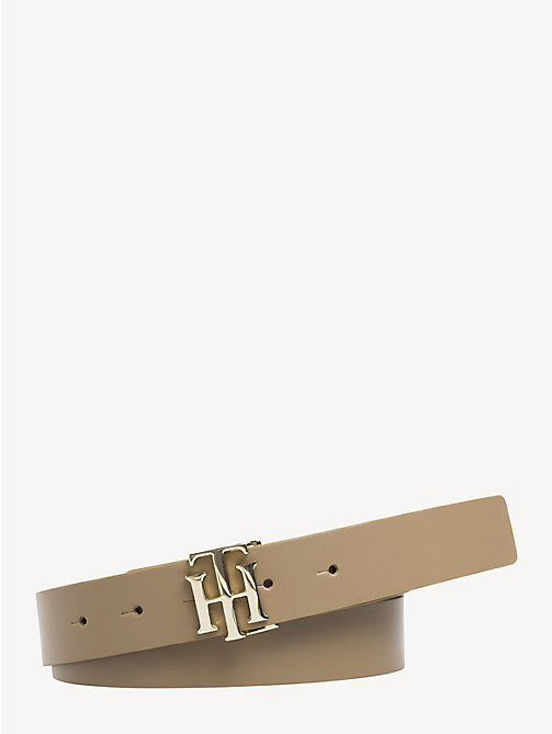 TOMMY HILFIGER Reversible Leather Belt - WARM SAND/ BLACK - TOMMY HILFIGER Belts - main image