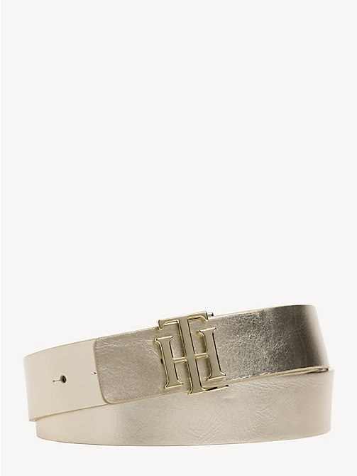 TOMMY HILFIGER Reversible Leather Belt - GOLD/ SILVER - TOMMY HILFIGER Belts - main image