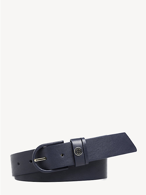 TOMMY HILFIGER Classic Leather Belt - TOMMY NAVY - TOMMY HILFIGER Belts - main image
