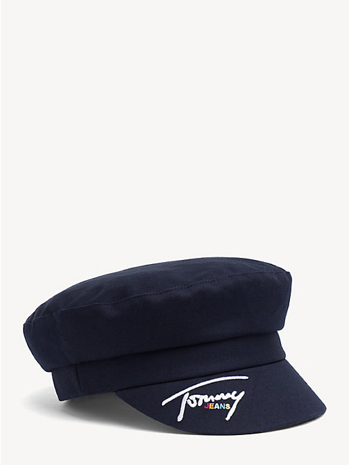 TOMMY JEANS Cotton Baker Boy Hat - BLACK IRIS - TOMMY JEANS Shoes & Accessories - main image