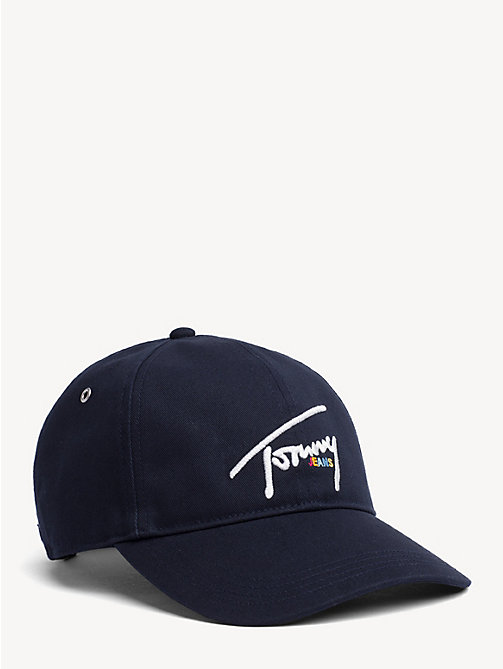 TOMMY JEANS Cotton Signature Logo Cap - BLACK IRIS - TOMMY JEANS Shoes & Accessories - main image