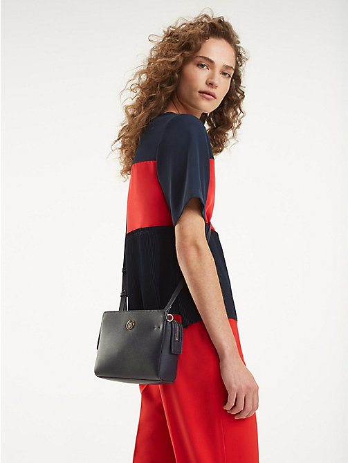 TOMMY HILFIGER Monogram Crossover Handbag - TOMMY NAVY & TOMMY RED - TOMMY HILFIGER Crossbody Bags - detail image 1