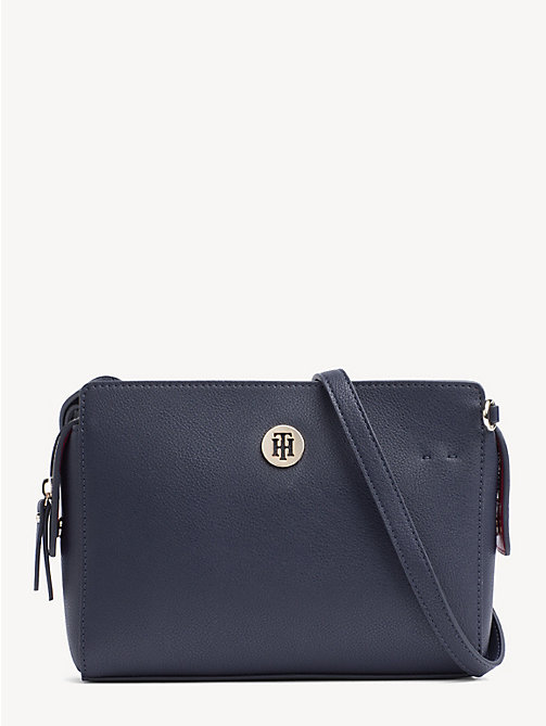 TOMMY HILFIGER Monogram Crossover Handbag - TOMMY NAVY & TOMMY RED - TOMMY HILFIGER Crossbody Bags - main image