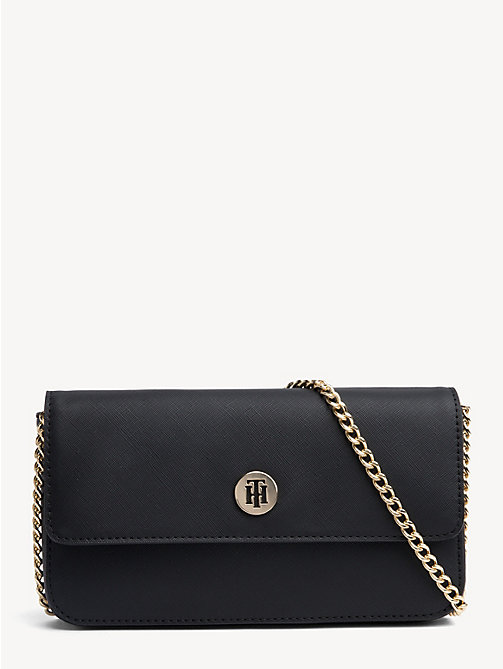 TOMMY HILFIGER Mini Monogram Crossover Bag - BLACK - TOMMY HILFIGER Crossbody Bags - main image