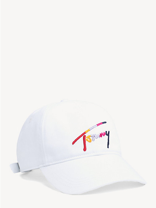 TOMMY JEANS Multicolour Signature Logo Cap - BRIGHT WHITE - TOMMY JEANS Shoes & Accessories - main image