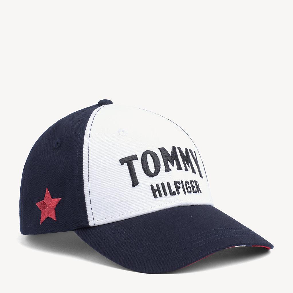 Tommy Hilfiger - Gorra con panel a contraste y logo - 1