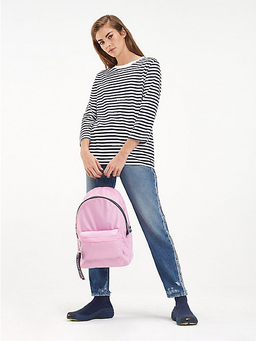 TOMMY JEANS Tommy Jeans Logo Backpack - LILAC CHIFFON - TOMMY JEANS Backpacks - detail image 1