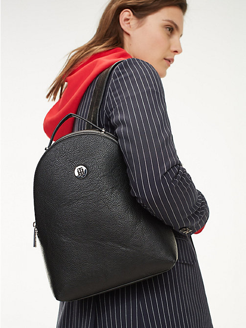 6333b6a29 black th core small backpack for women tommy hilfiger