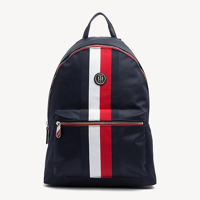 47ba0525 Shoptagr | Signature Tape Laptop Backpack by Tommy Hilfiger