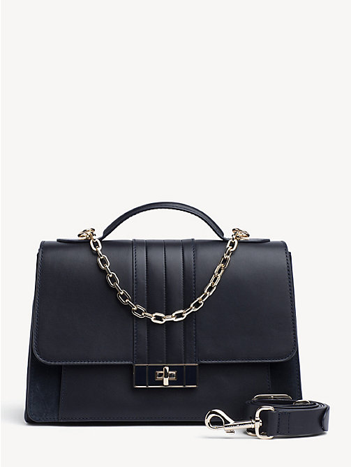 7d8572b51e8e TOMMY HILFIGERChic Leather And Chain Satchel