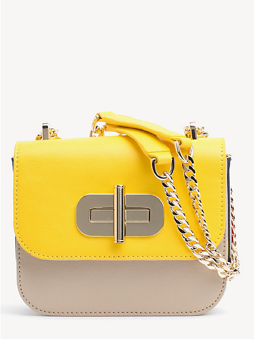 a9a8a875d yellow turn lock small crossover bag for women tommy hilfiger