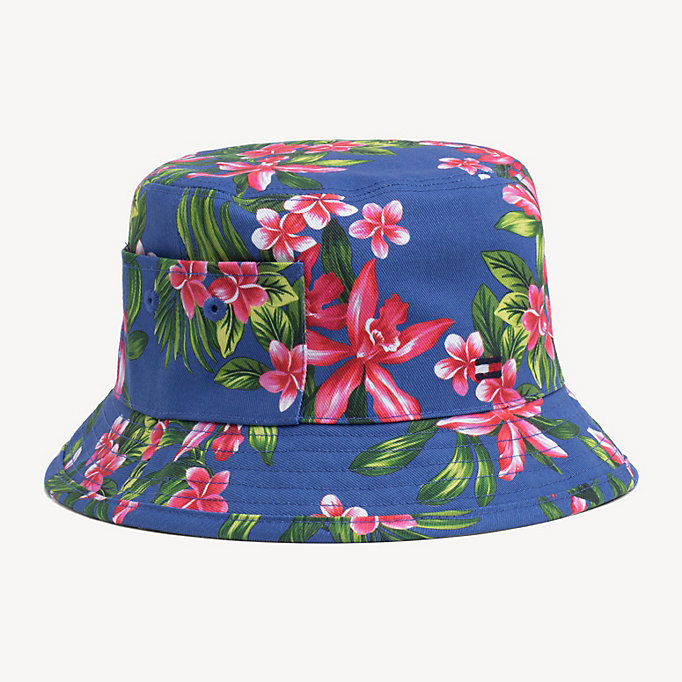 7a7a6bad Reversible Tropical Bucket Hat | Tommy Hilfiger