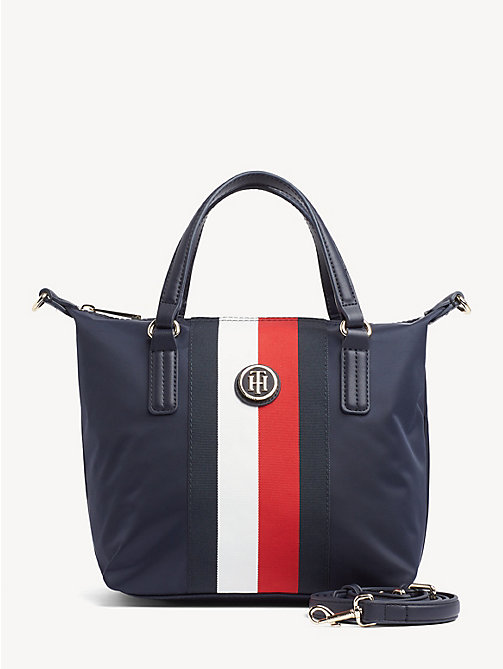 acdc1646e5e36 blue signature small tote bag for women tommy hilfiger