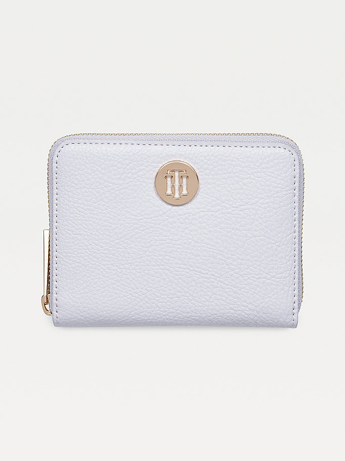 grey th core zip-around wallet for women tommy hilfiger