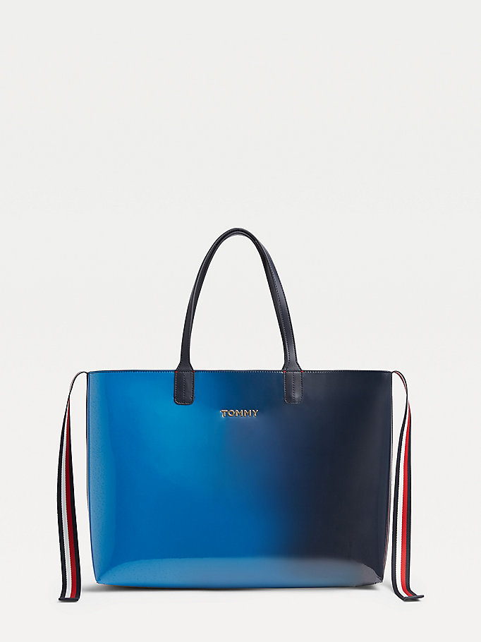 blue tommy icon ombre tote for women tommy hilfiger