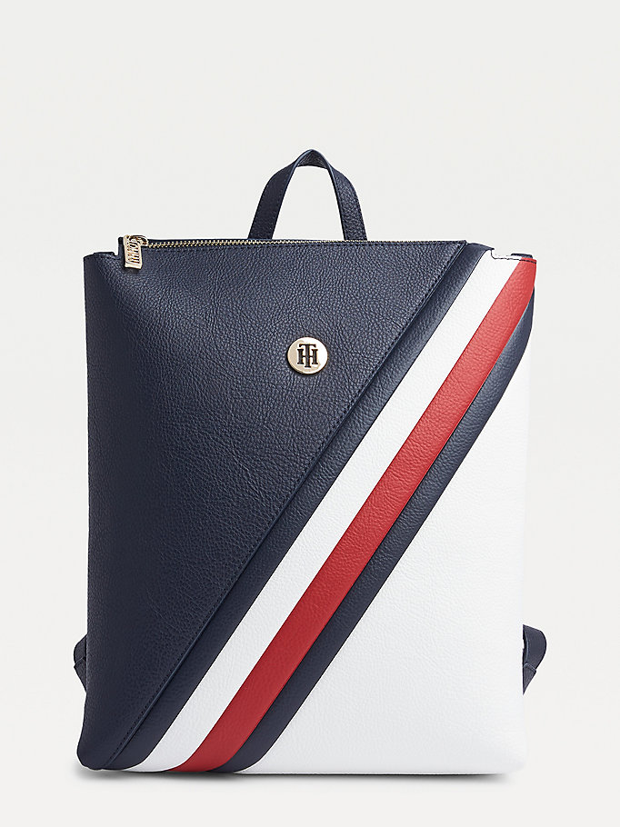 blue th core signature detail backpack for women tommy hilfiger