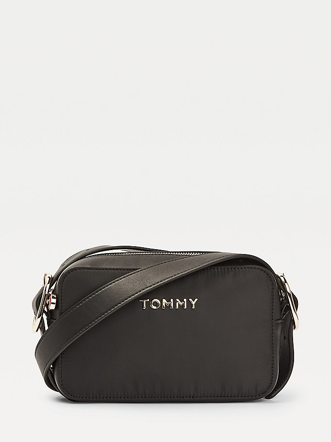 black metal logo crossover bag for women tommy hilfiger