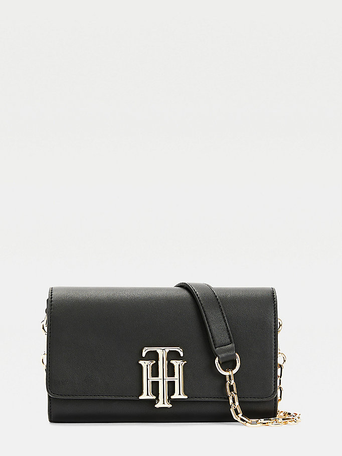 black th lock small crossbody bag for women tommy hilfiger