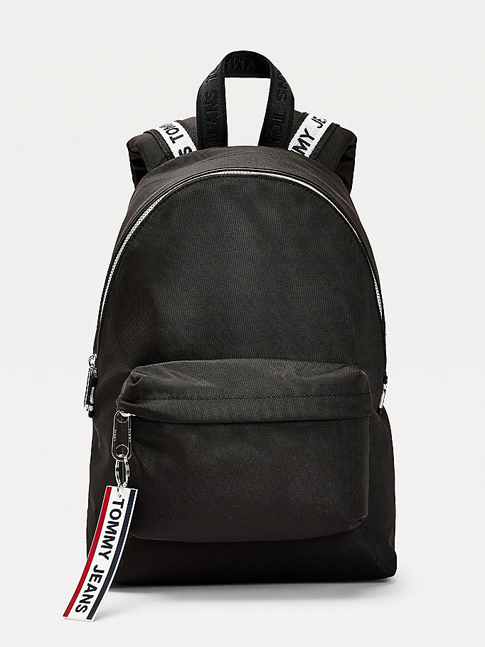 black small logo tape backpack for women tommy jeans