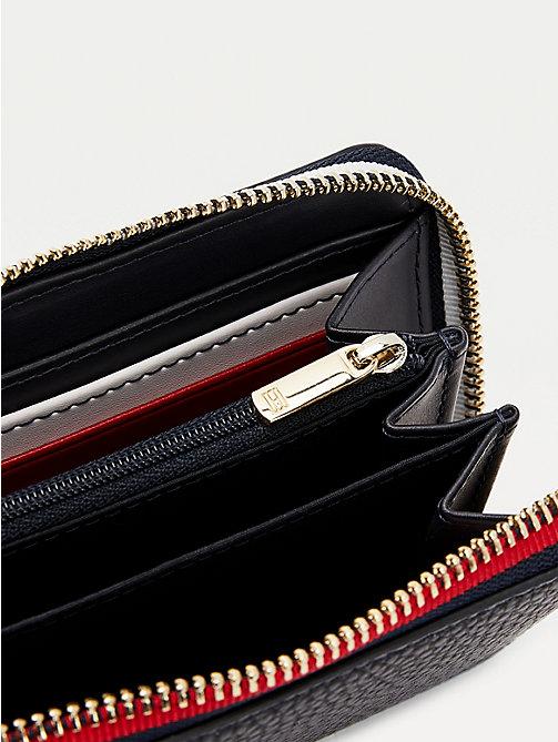 Tommy Hilfiger tjw Texture Small Zip Around Wallet portefeuille BLACK