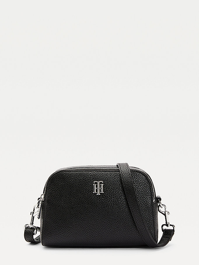 black th essence crossover bag for women tommy hilfiger