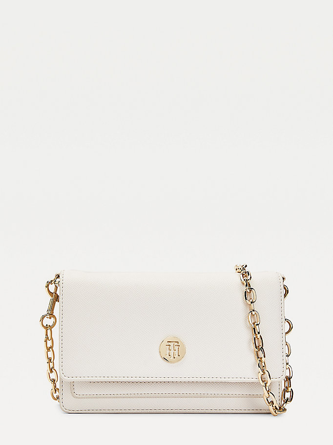 beige chain strap crossover bag for women tommy hilfiger