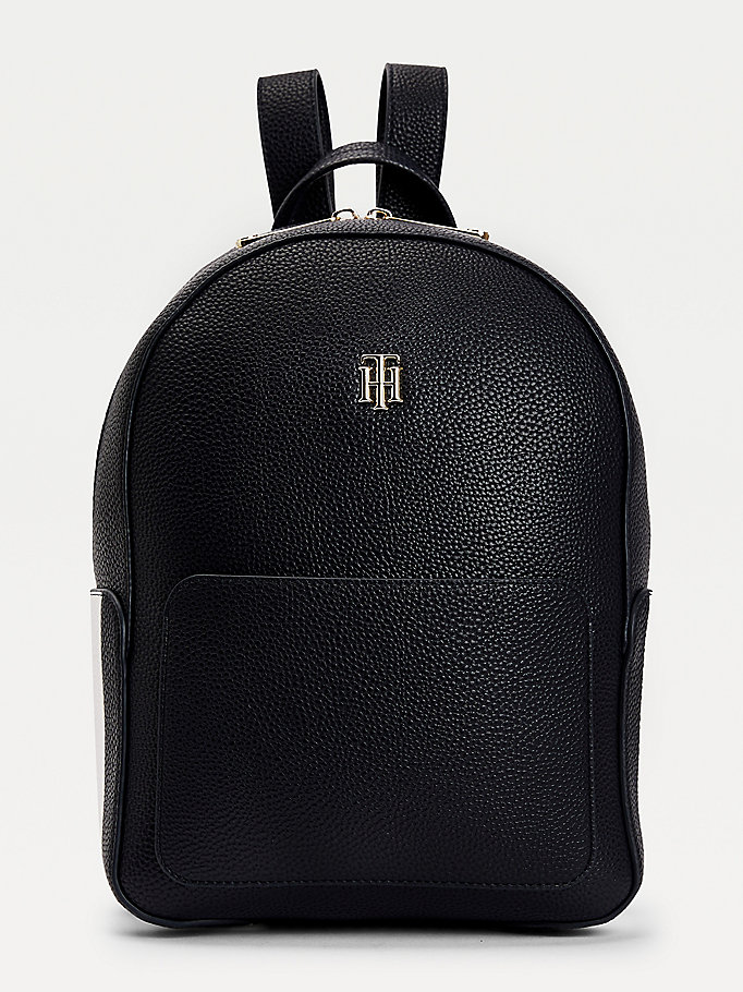 blue th essence monogram backpack for women tommy hilfiger