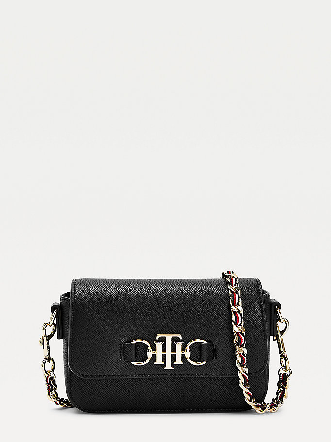 black small chain crossover bag for women tommy hilfiger