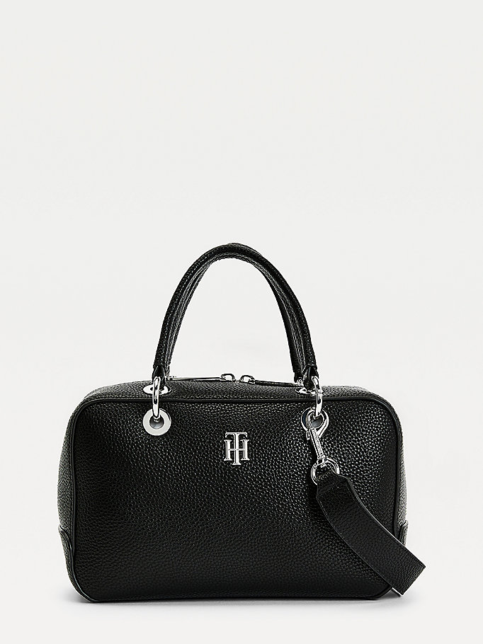 black th essence medium duffle bag for women tommy hilfiger
