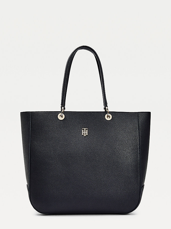 blue th essence tote bag for women tommy hilfiger