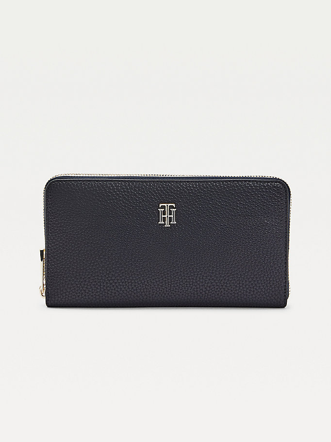 blue th essence travel wallet for women tommy hilfiger