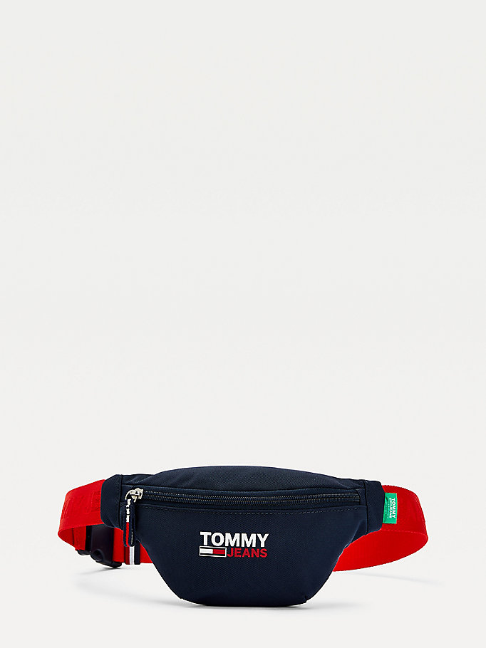 blue campus crossover bumbag for women tommy jeans