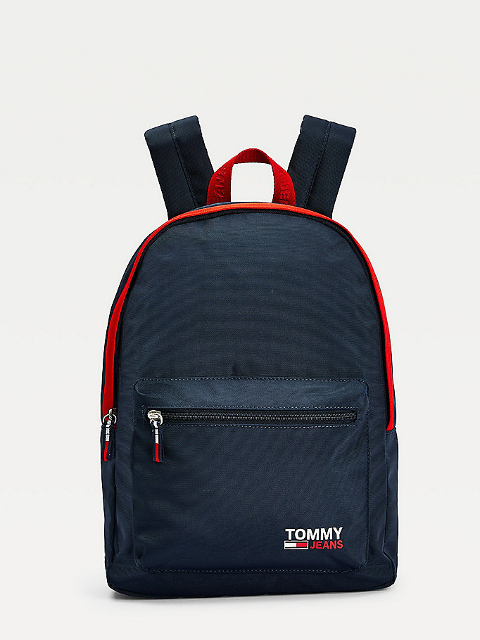 blue campus medium backpack for women tommy jeans