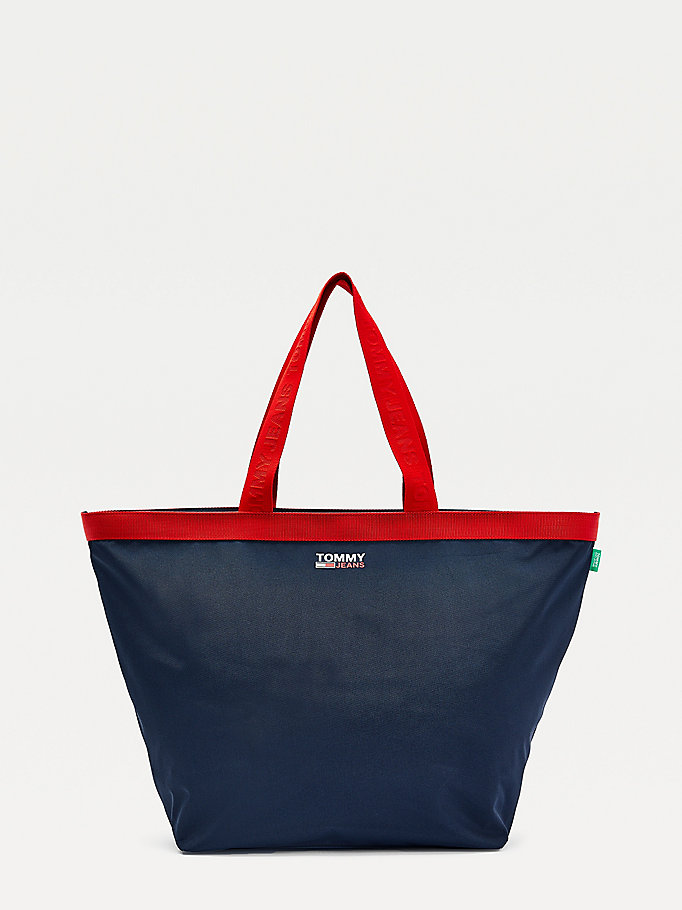 blue campus weekender bag for women tommy jeans