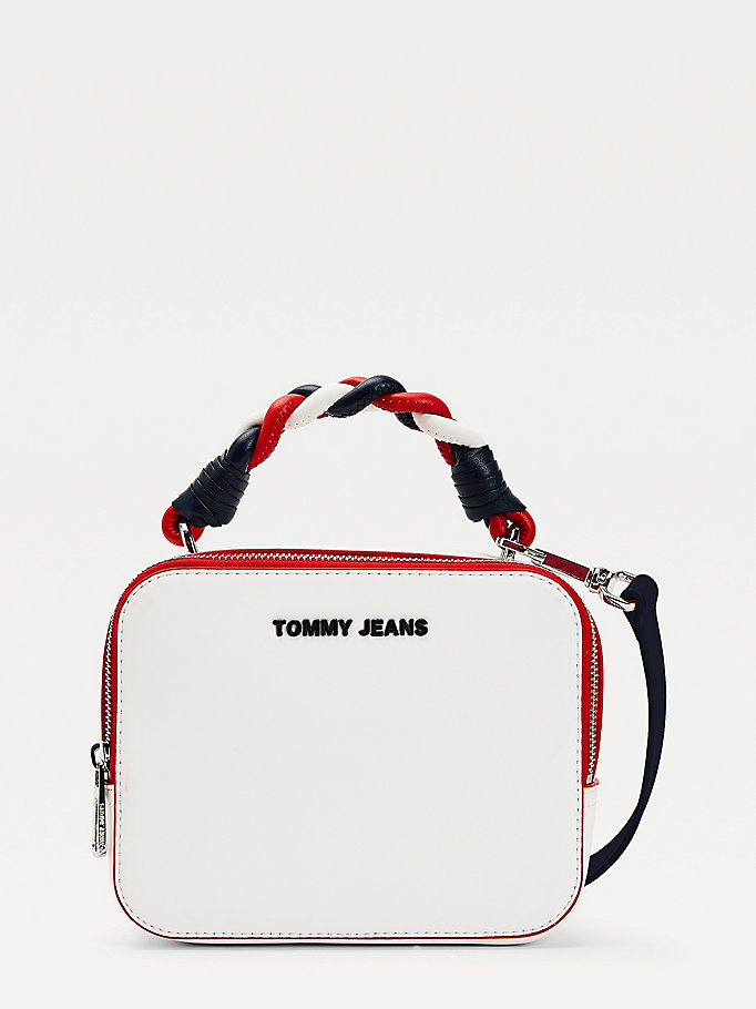 blue plaited handle crossover bag for women tommy jeans
