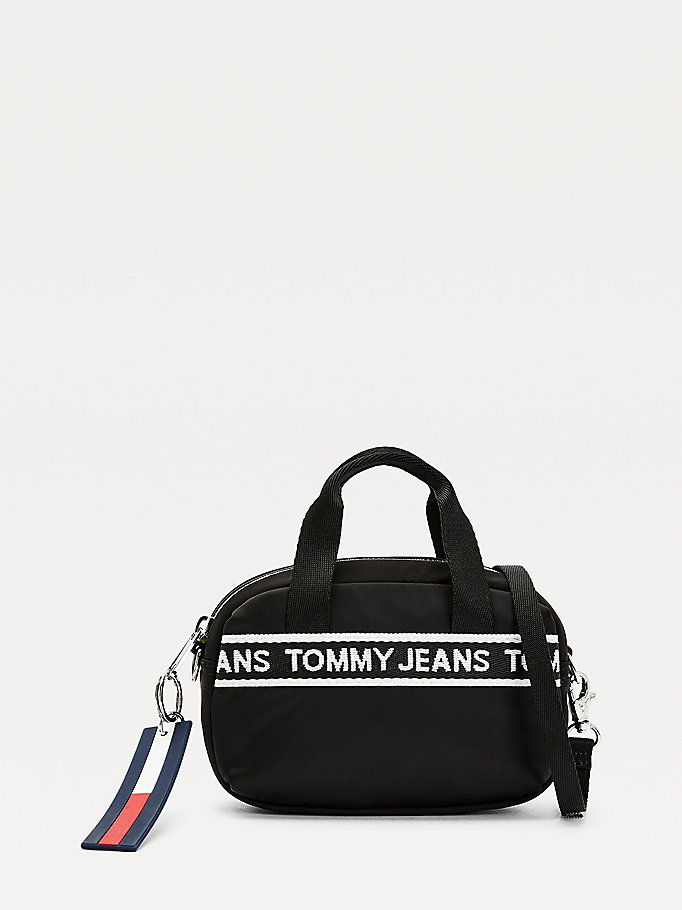 black small logo tape crossover bag for women tommy jeans