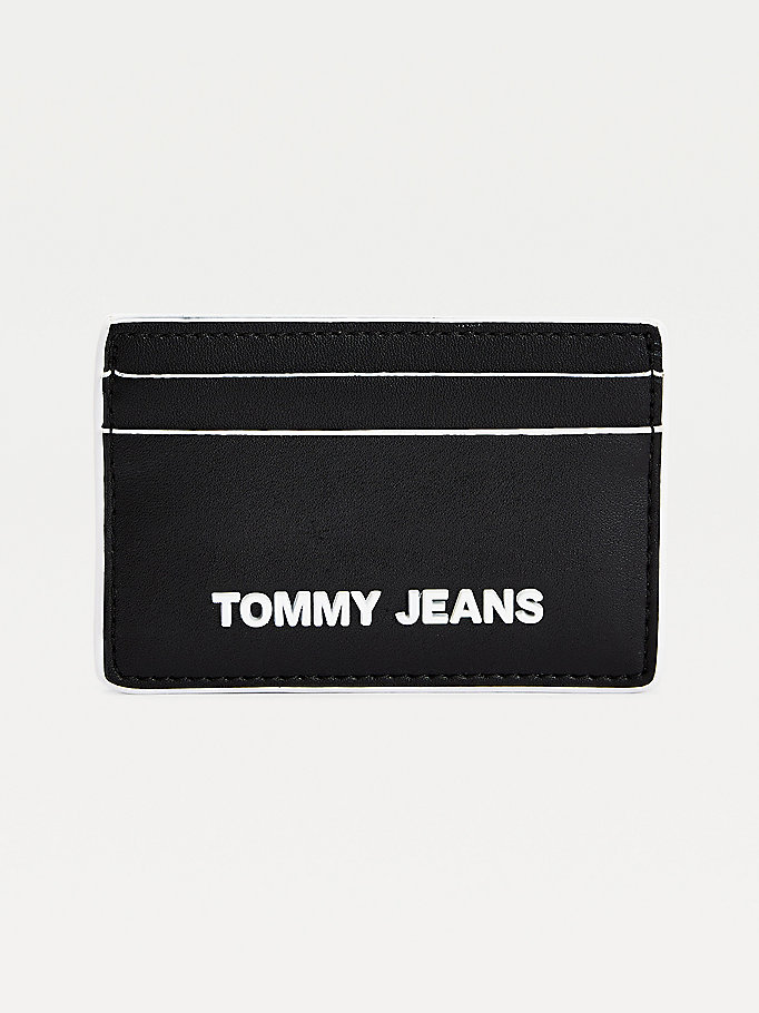 black essential card holder for women tommy jeans