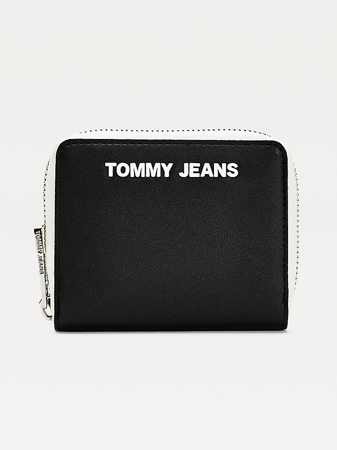 black essential small wallet for women tommy jeans