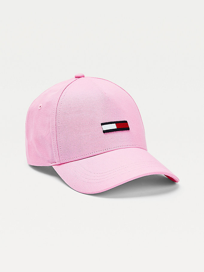 pink all-over logo baseball cap for women tommy jeans