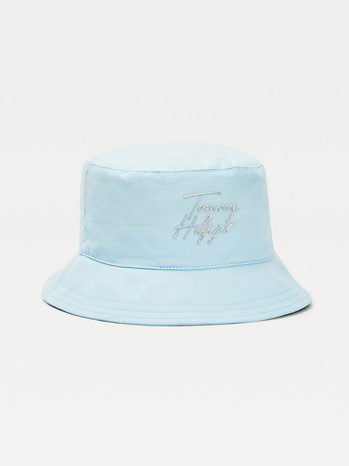 blue kids' summer bucket hat for girls tommy hilfiger