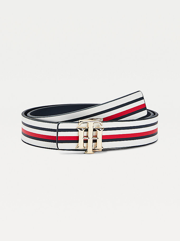 white reversible leather belt for women tommy hilfiger