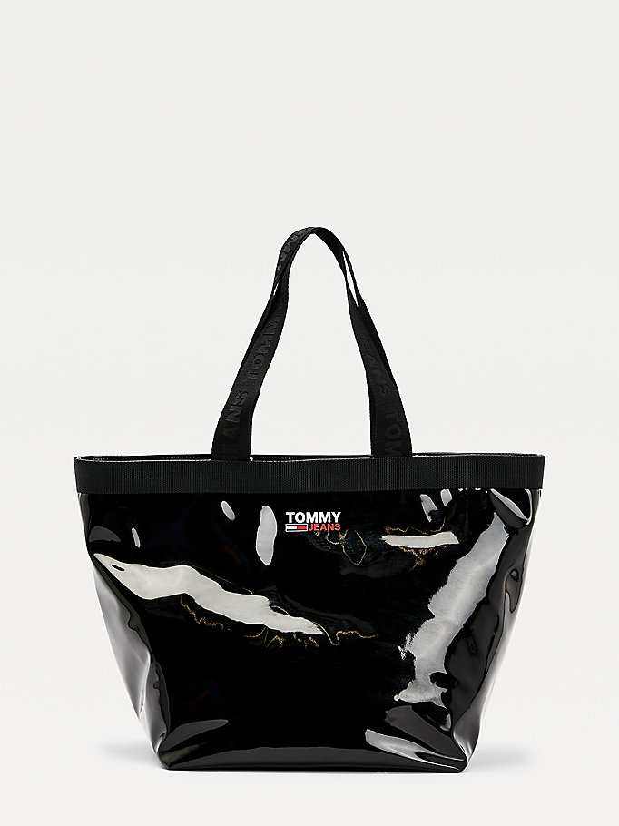 black campus tote bag for women tommy jeans