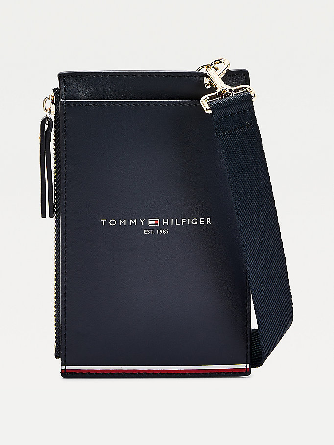 blue crossover phone wallet for women tommy hilfiger