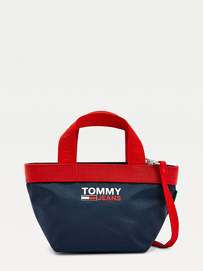 blue campus small tote bag for women tommy jeans
